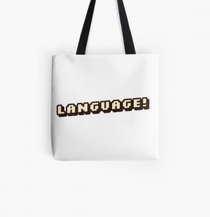 """""""Language!""""-BadBoyHalo All Over Print Tote Bag RB0206 product Offical Technoblade Merch"""