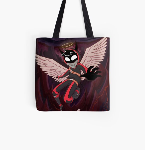 Angel from the Nether   BadBoyHalo Fanart All Over Print Tote Bag RB0206 product Offical Technoblade Merch