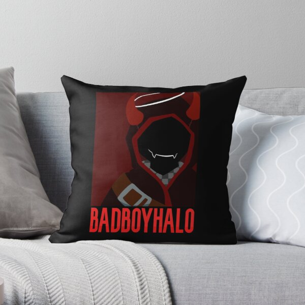 BadBoyHalo Poster Throw Pillow RB0206 product Offical Technoblade Merch