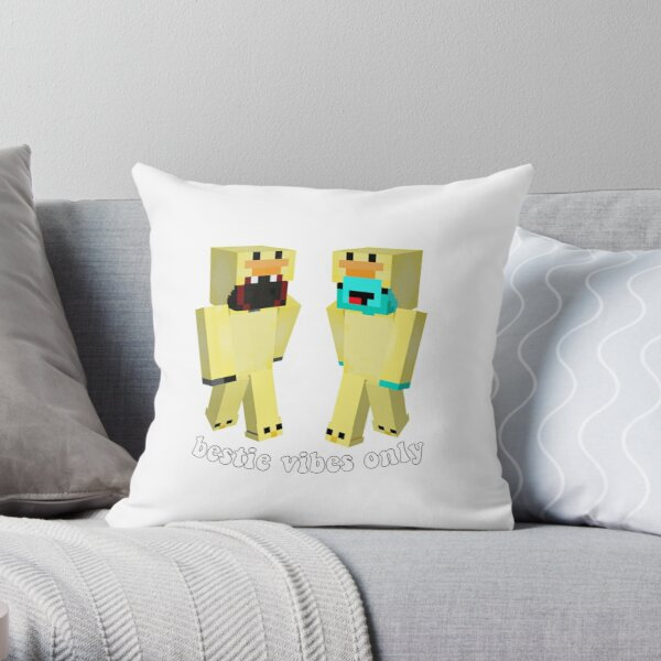 badboyhalo and skeppy mc skins  Throw Pillow RB0206 product Offical Technoblade Merch