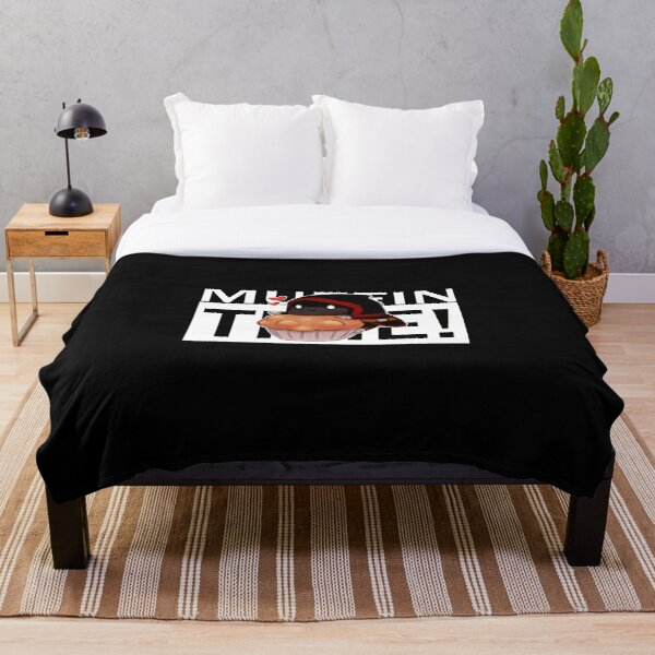 Badboyhalo Merch Badboyhalo Muffin Time Gifts For Fans, For Men and Women, Gift Christmas Day Throw Blanket RB0206 product Offical Technoblade Merch