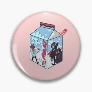 the trio milk! (skeppy, a6d, badboyhalo) Pin RB0206 product Offical Technoblade Merch